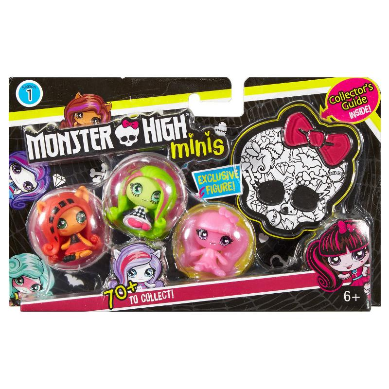 MONSTER HIGH MINIS 3 PACK - TORALEI VENUS DRACULAURA FIGURES