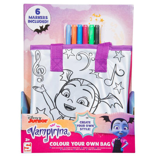 DISNEY VAMPIRINA COLOUR YOUR OWN TOTEBAG