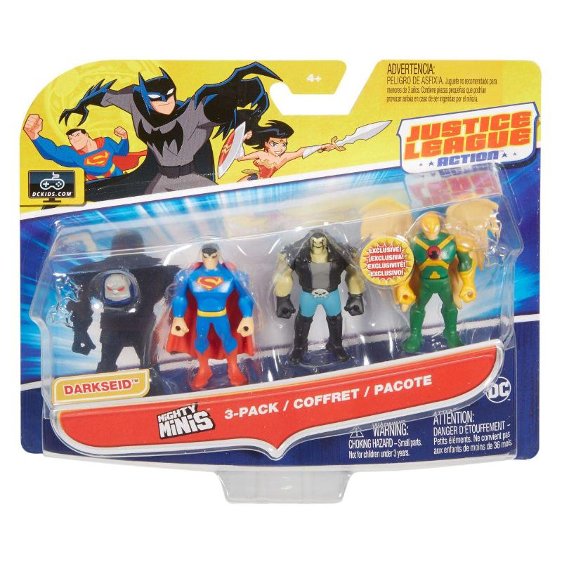 JUSTICE LEAGUE ACTION FIGURE MIGHTY MINIS 3 PACK