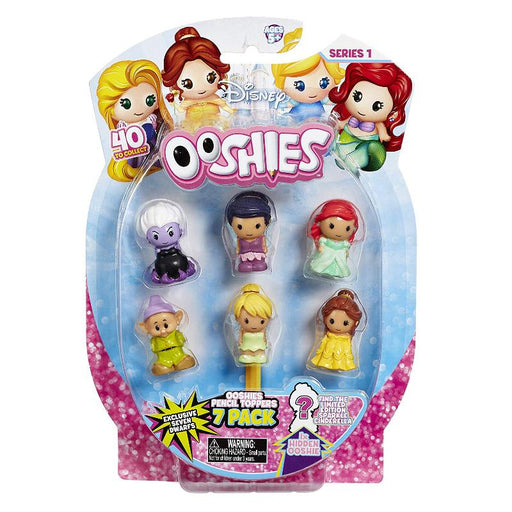 DISNEY OOSHIES SQUISHY PENCIL TOPPER FIGURES 7 PACK