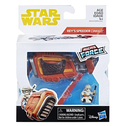 STAR WARS MICRO FORCE REY'S SPEEDER FIGURE SET