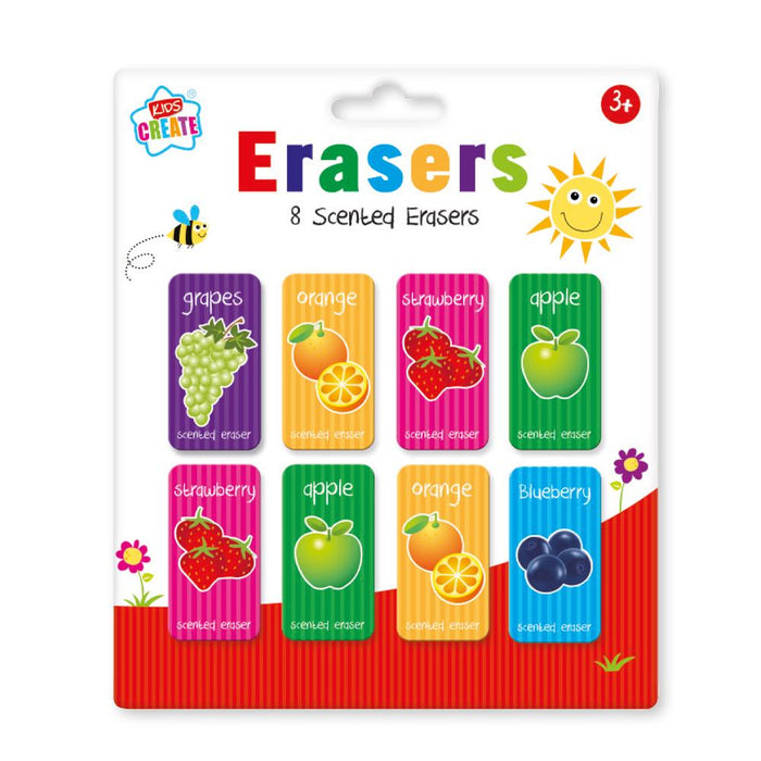 Scented Erasers 8pc Set