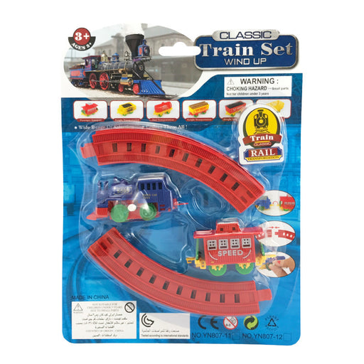CLASSIC WIND UP MINI TRAINS WITH TRACK