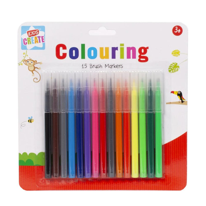 Colouring Brush Markers 15pk
