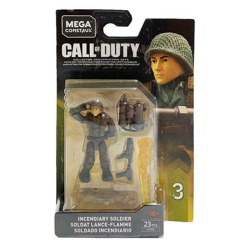 MEGA CONSTRUX CALL OF DUTY INCENDIARY SOLDIER MINI FIGURE