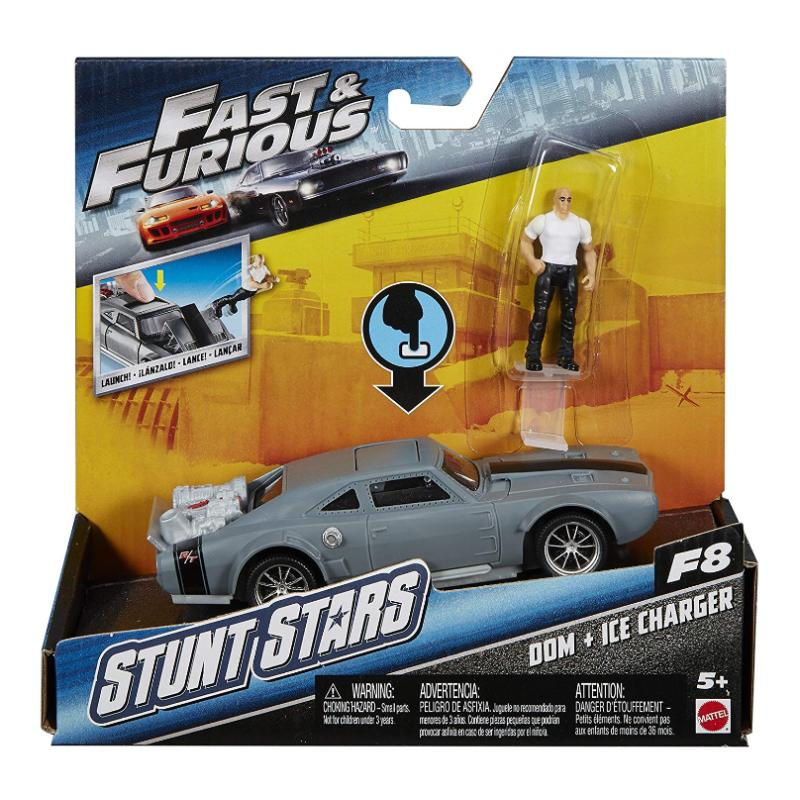 FAST & FURIOUS STUNT STARS DOM & ICE CHARGER PLAY SET