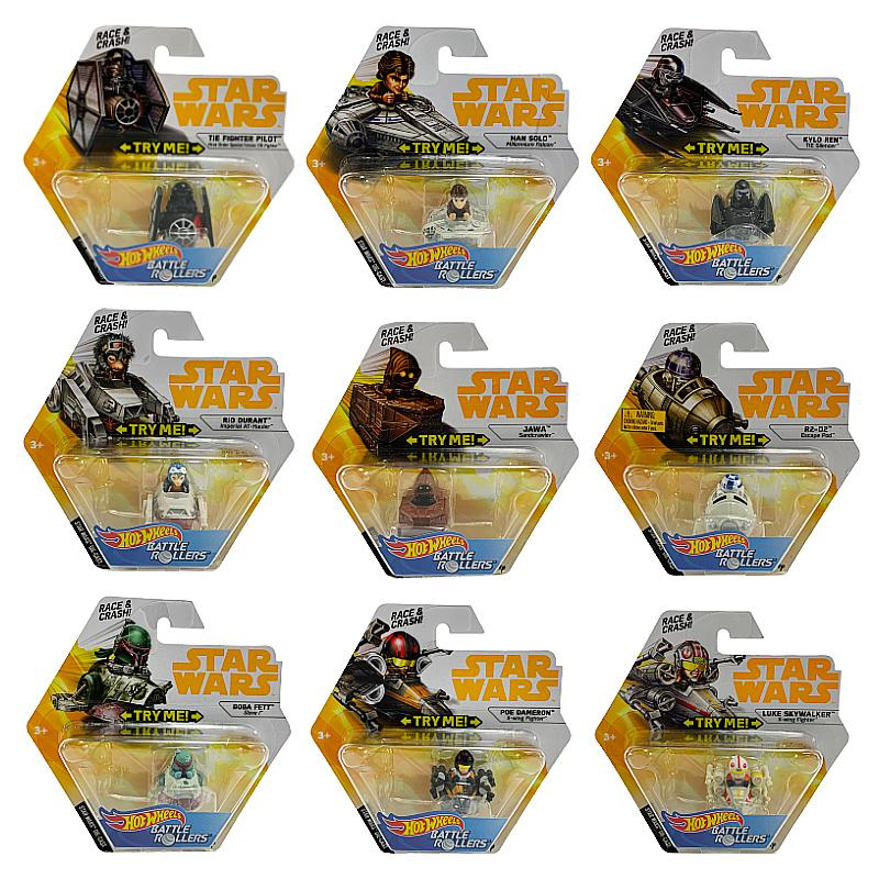 HOT WHEELS STAR WARS BATTLE ROLLER MINI FIGURE