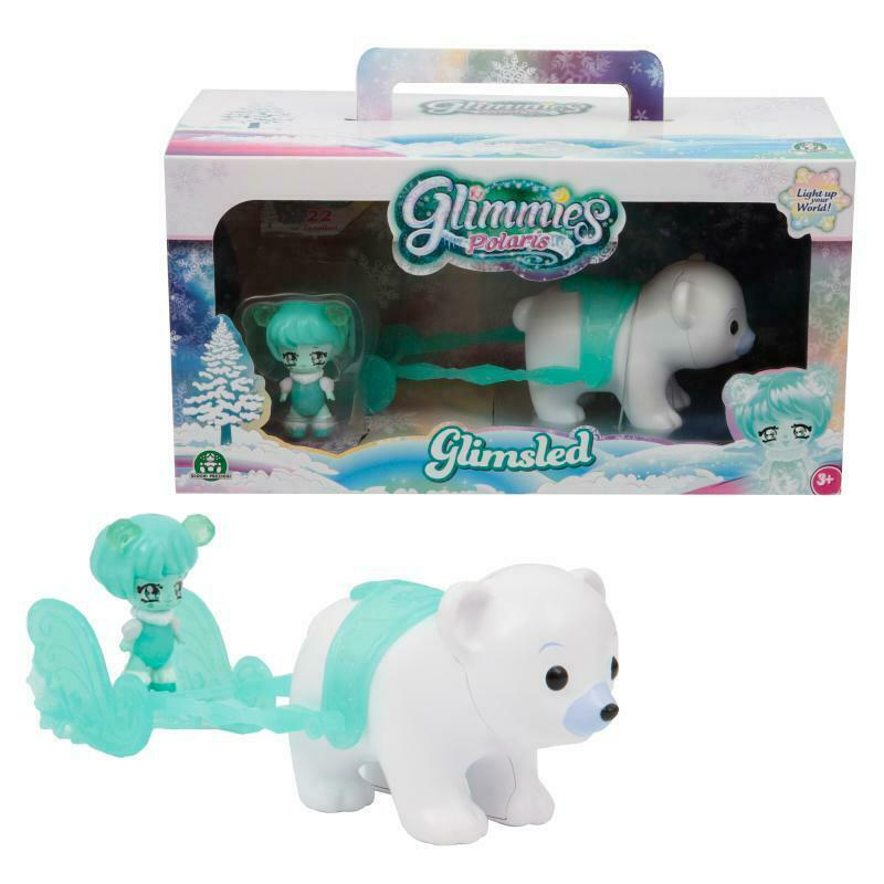 Glimmies Polaris Glimsled Magical Polar Bear Play Set