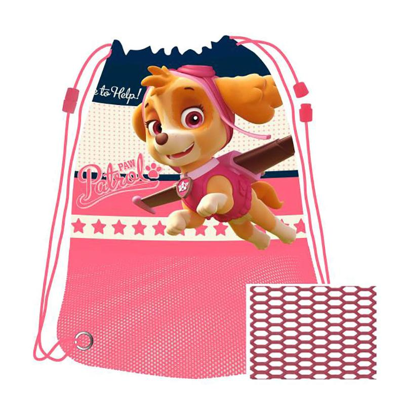 PAW PATROL GYM BEACH MESH SPORTS SHOE BAG (PINK)
