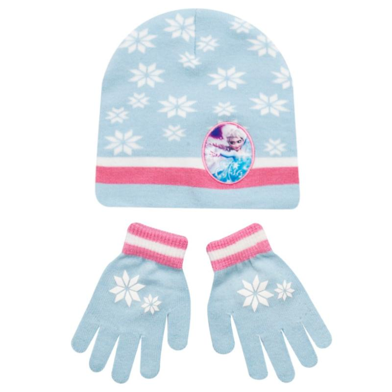 DISNEY FROZEN BEANIE HAT & GLOVES SET