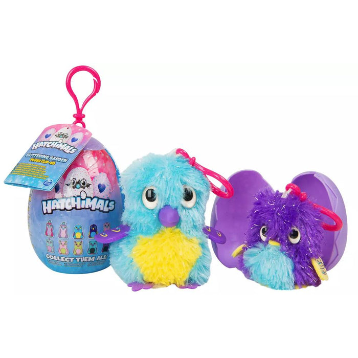 Hatchimals Glittering Garden Plush Clip-On Egg 2pk