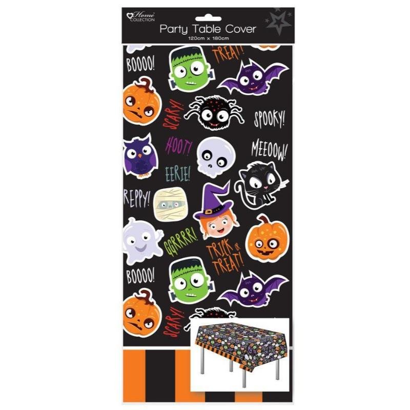 HALLOWEEN PLASTIC PARTY TABLE COVER