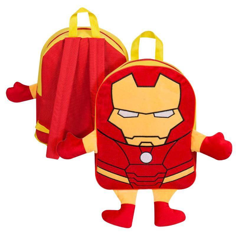 IRON MAN PLUSH FRONT BACKPACK