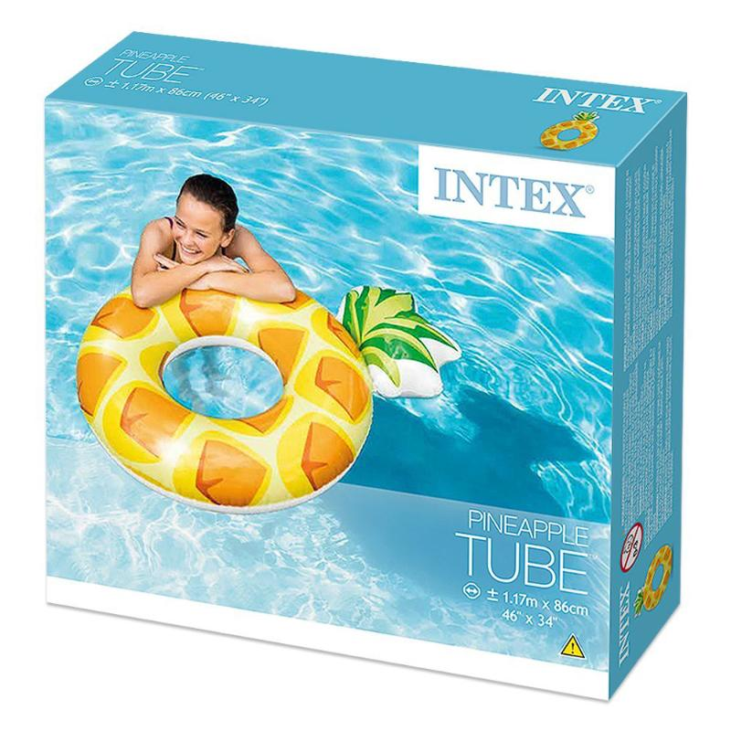 "INTEX PINEAPPLE TUBE 46"" X 34"" POOL FLOAT"