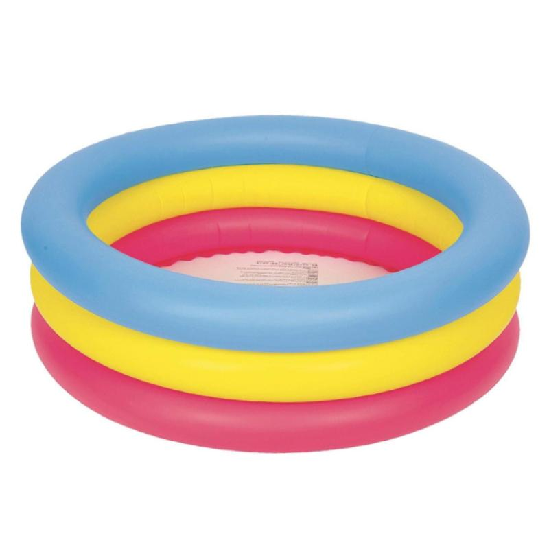 "JILONG THREE RING COLOUR PADDLING POOL 30"" x 10"""