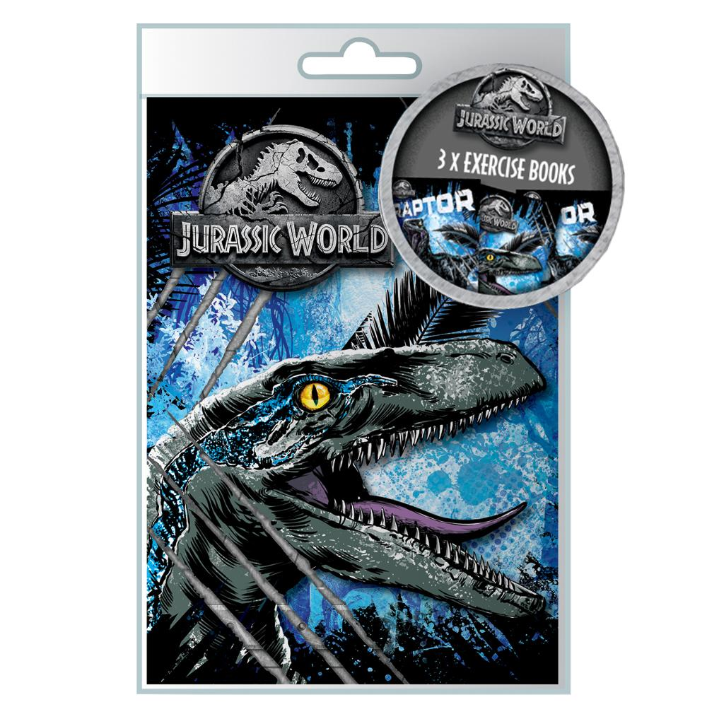 JURASSIC WORLD 3 EXERCISE BOOKS SET