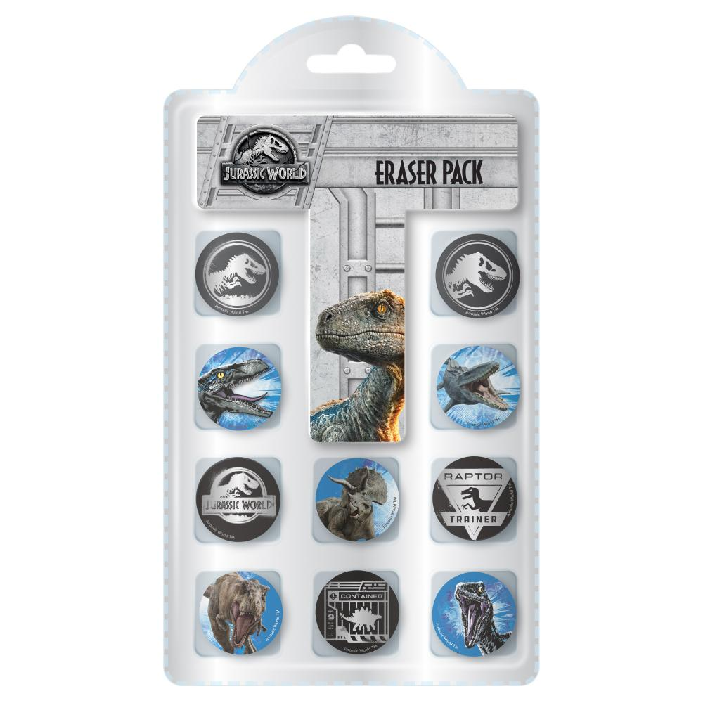 JURASSIC WORLD NOVELTY ERASERS 10PK