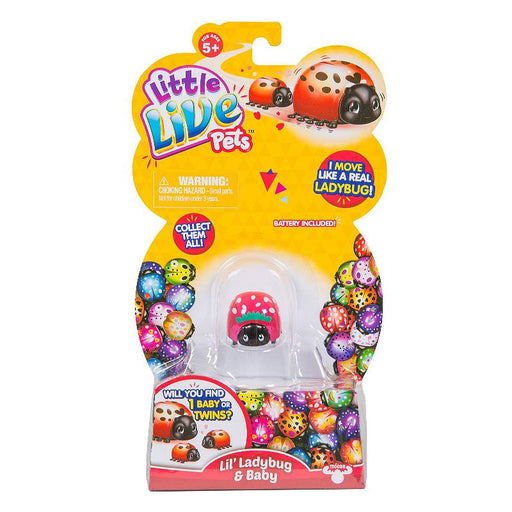 LITTLE LIVE PETS LIL' LADYBUG & BABY MINI ELECTRONIC PET TOY