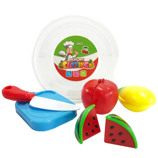 KITCHEN CHOPPING 5PC PRETEND PLAY SET