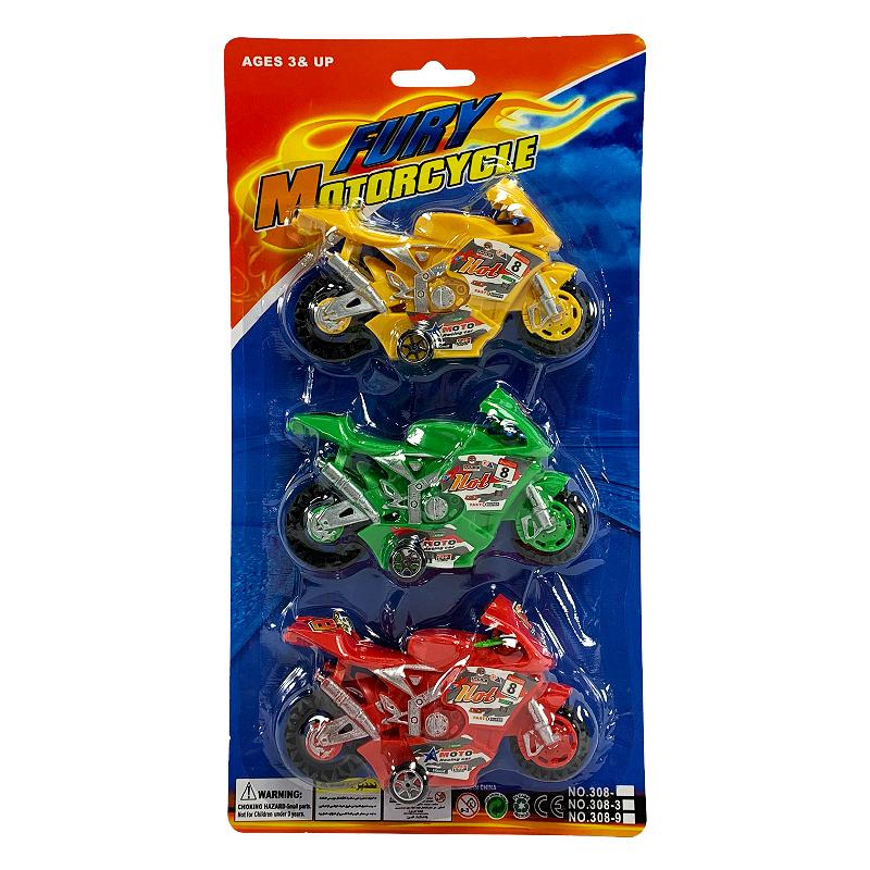 FURY MOTORCYCLE 3 PACK SET
