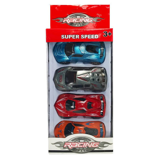 SUPER SPEED 4PC RACING CAR SET