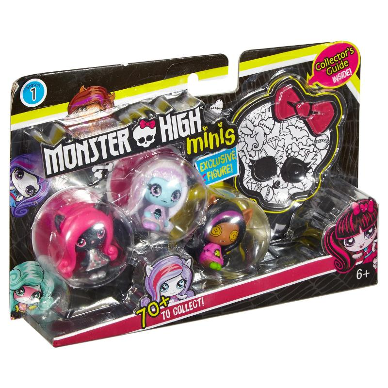MONSTER HIGH MINIS 3 PACK - CATTY ABBEY CLAWDEEN FIGURES