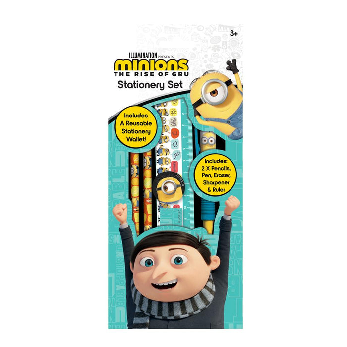 Minions The Rise Of Gru 6pc Stationery Set