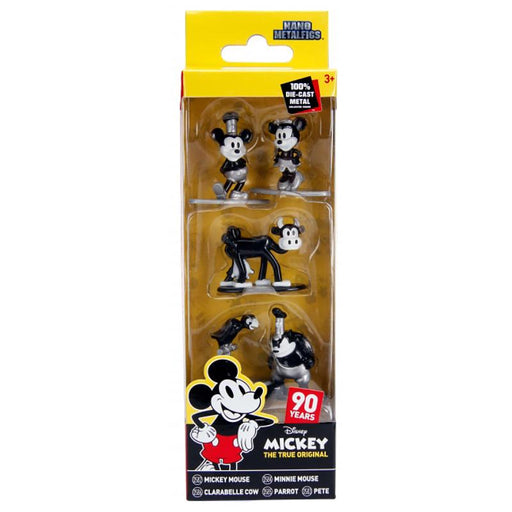 DISNEY MICKEY MOUSE TRUE ORIGINAL NANO METALFIGS 5 FIGURE SET