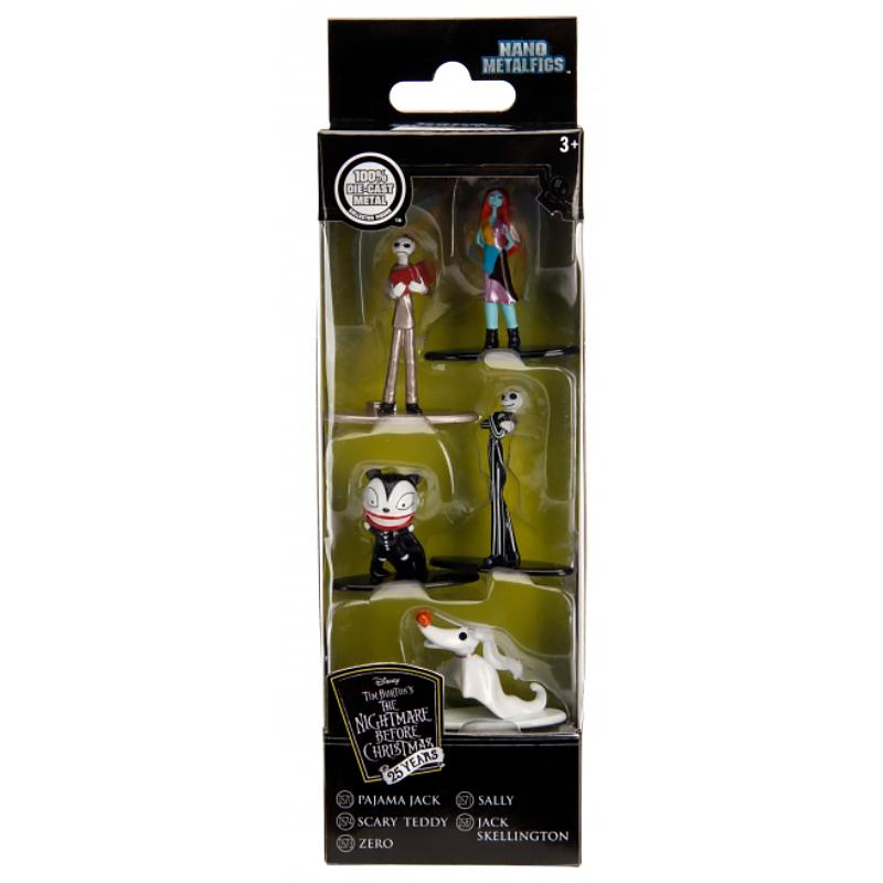 Disney Nightmare Before Christmas Nano Metalfigs 5 Figure Set