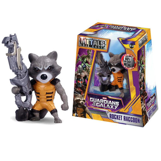 "METALFIGS MARVEL GUARDIANS OF THE GALAXY ROCKET RACCOON 4"" FIGURE"