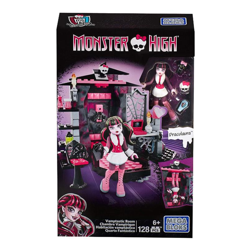 MEGA BLOKS MONSTER HIGH VAMPTASTIC ROOM 128PC SET