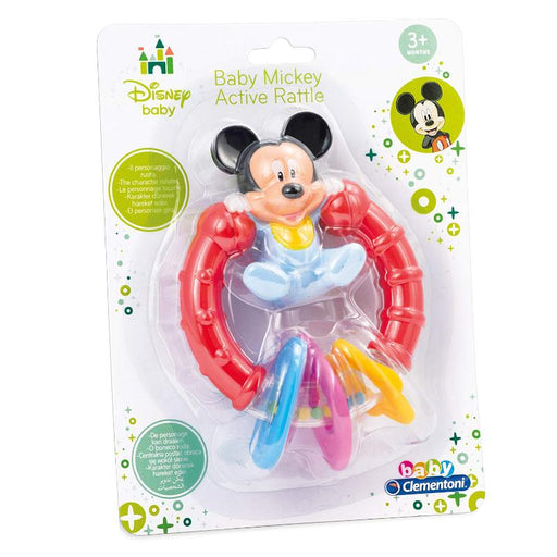 DISNEY BABY MICKEY MOUSE ACTIVITY TEETHING RATTLE RING