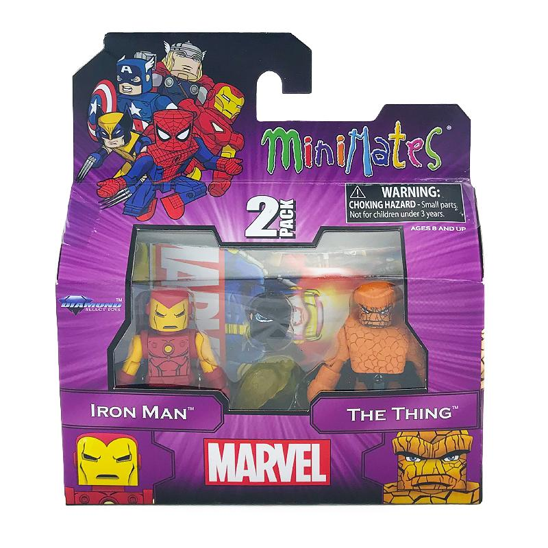 MARVEL MINIMATES 2PK FIGURES - IRON MAN & THE THING