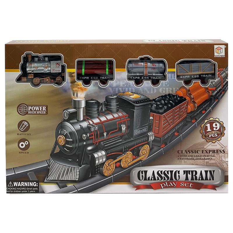 CLASSIC TRAIN 19PC PLAY SET TOY
