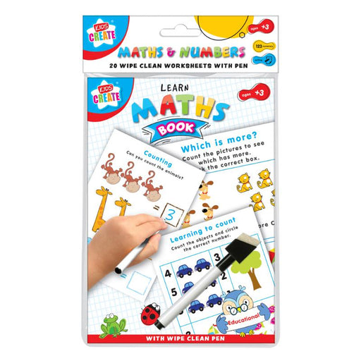 LEARN NUMBERS EDUCATIONAL WIPE CLEAN A5 BOOK