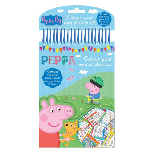 PEPPA PIG COLOUR YOUR OWN STICKER SET
