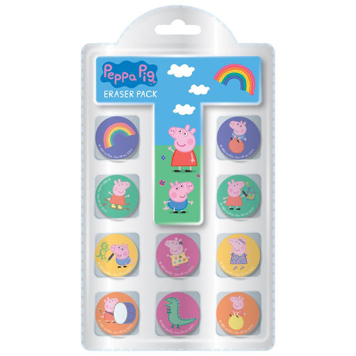 PEPPA PIG NOVELTY ERASER 10PK