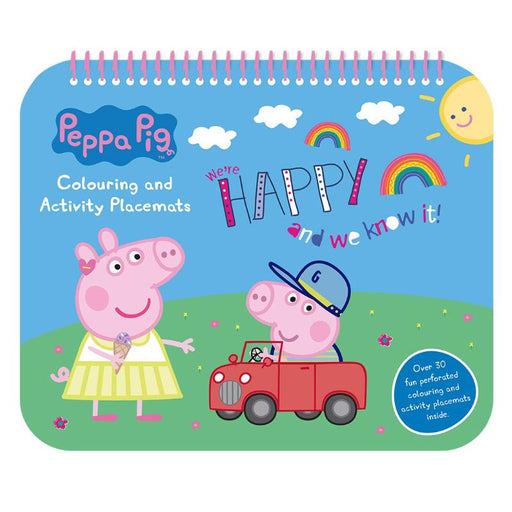 PEPPA PIG COLOURING & ACTIVITY PLACE MATS