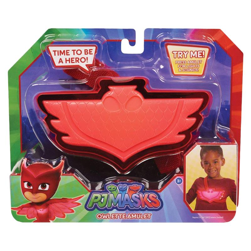 PJ MASKS LIGHT & SOUND AMULET ROLE PLAY TOY - OWLETTE