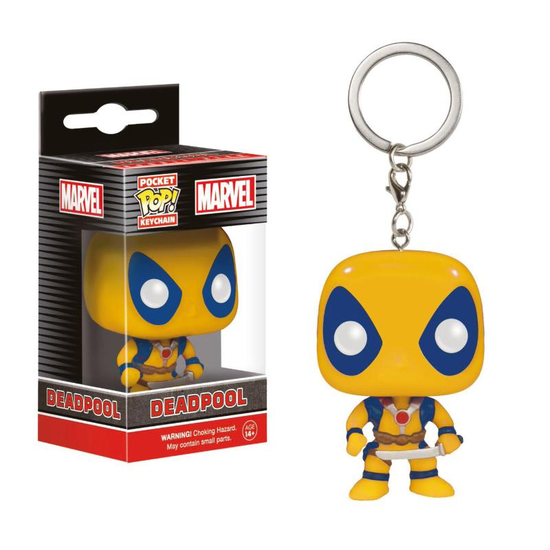FUNKO POP POCKET DEADPOOL YELLOW KEYCHAIN