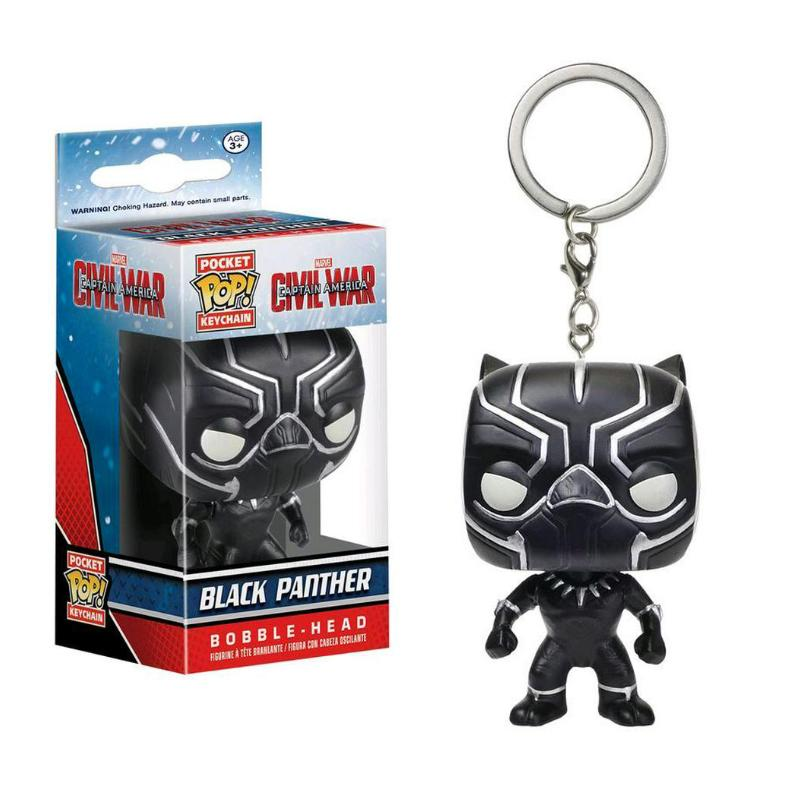 FUNKO POP POCKET BLACK PANTHER KEYCHAIN