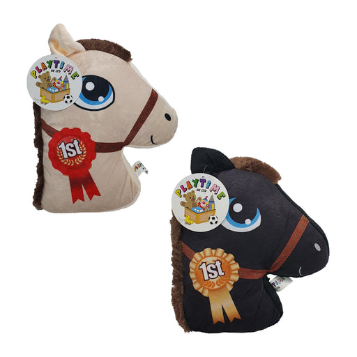 SHOWJUMPER HORSE PLUSH CUSHION 10""