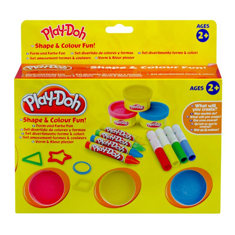 PLAY DOH SHAPE & COLOUR FUN PLAY SET