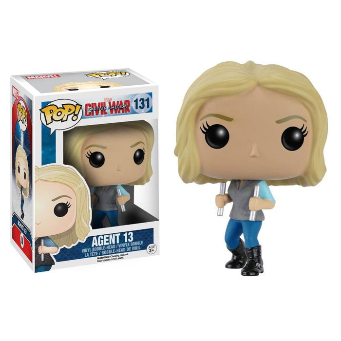 FUNKO POP MARVEL AGENT 13 VINYL BOBBLE-HEAD FIGURE