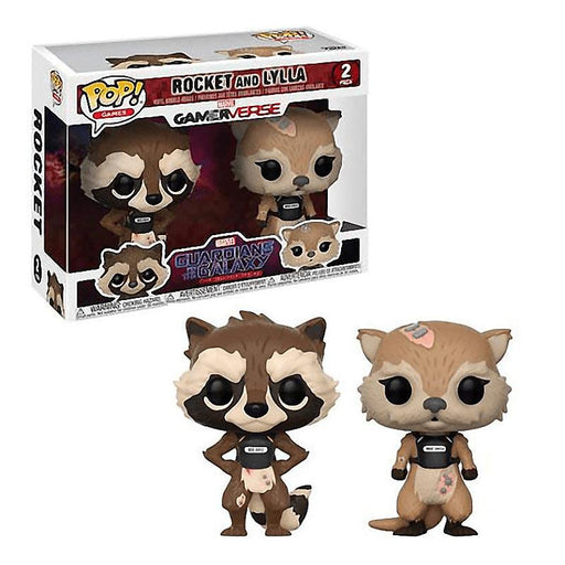 FUNKO POP MARVEL ROCKET & LYLLA VINYL FIGURE TWIN PACK