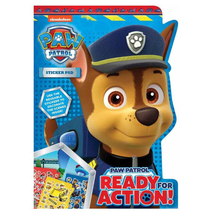 Paw Patrol Chase Shaped Sticker Pad