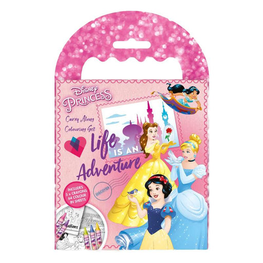 DISNEY PRINCESS CARRY ALONG COLOURING SET