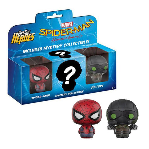 FUNKO MARVEL SPIDER-MAN HOMECOMING PINT SIZE HEROES 3PK FIGURE SET