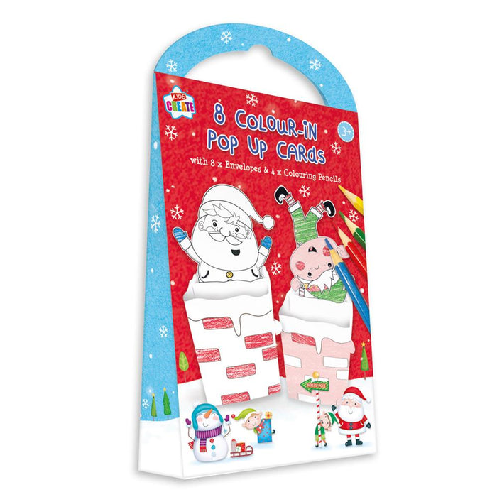 Christmas Colour In Make Your Own Pop Up Cards 8pk