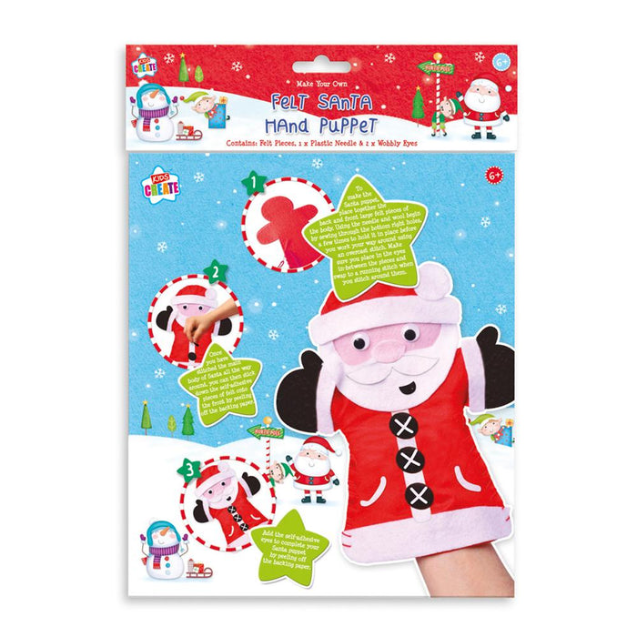 Christmas Make Your Own Felt Santa Hand Puppet Set